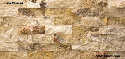 Picasso Travertine Split Face Wall Cladding Vaneer Wall
